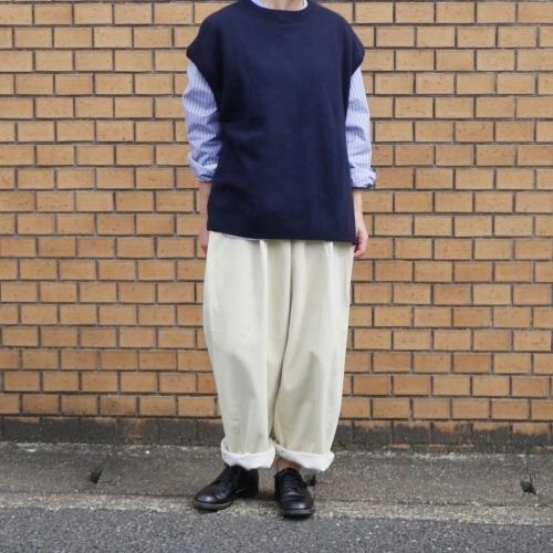 raccoon knit vest & corduroy pants_e0247148_16232583.jpg
