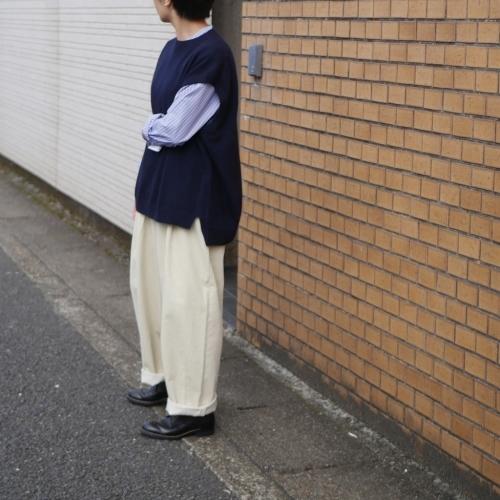 raccoon knit vest & corduroy pants_e0247148_16233512.jpg