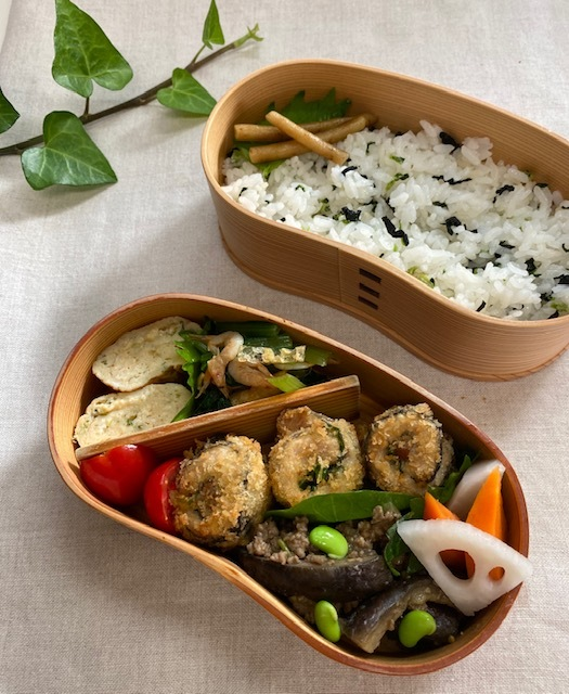 lunch box ×3 前日に準備しておくと・・・_a0165160_17051930.jpg
