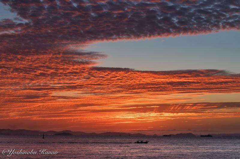 神島水落のだるま朝日_b0222467_23134454.jpg