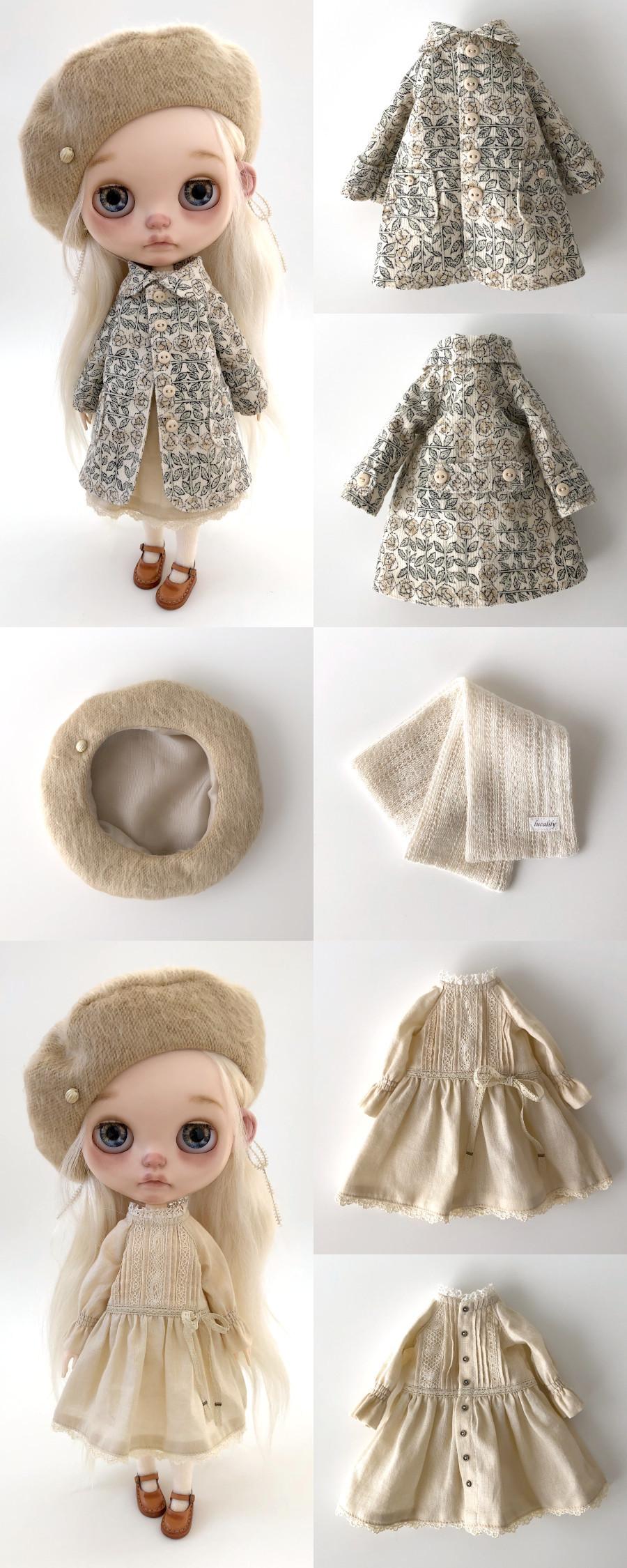 *lucalily * dolls clothes* Flower pattern coat set *_d0217189_10282083.jpeg