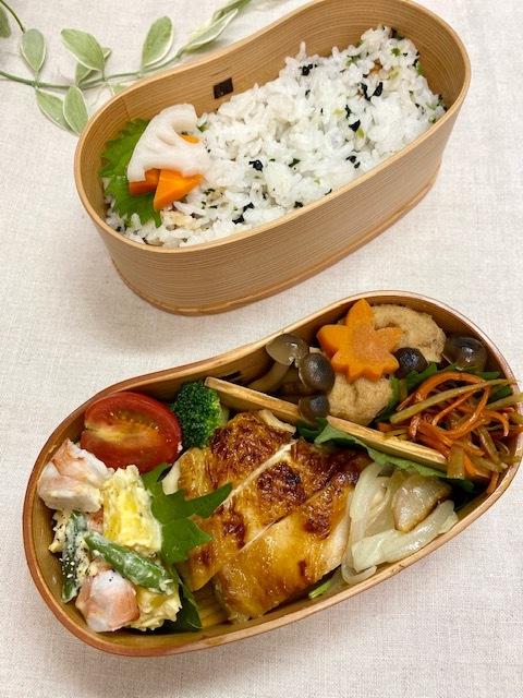 lunch box ×2 寒くなりましたね。_a0165160_17450003.jpg
