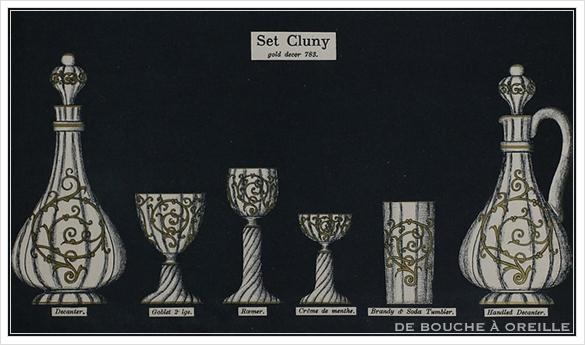 """サン・ルイ クリュニー Saint Louis \""""Cluny\"""" その4 オールド バカラ グラス フランス アンティーク_d0184921_12330704.jpg"""