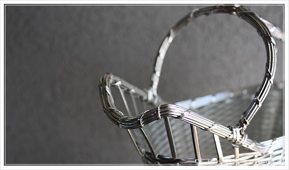 クリストフル製 アンティークのパニエ ボトルバスケット Christofle porte bouteille その3_d0184921_14564759.jpg
