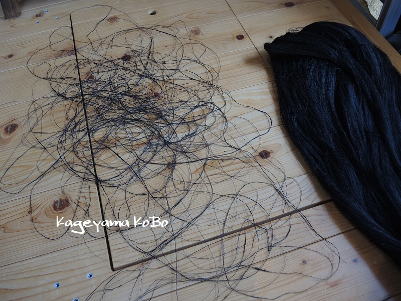 着尺の経糸に赤城糸を使う時には…_f0175143_21462329.jpg