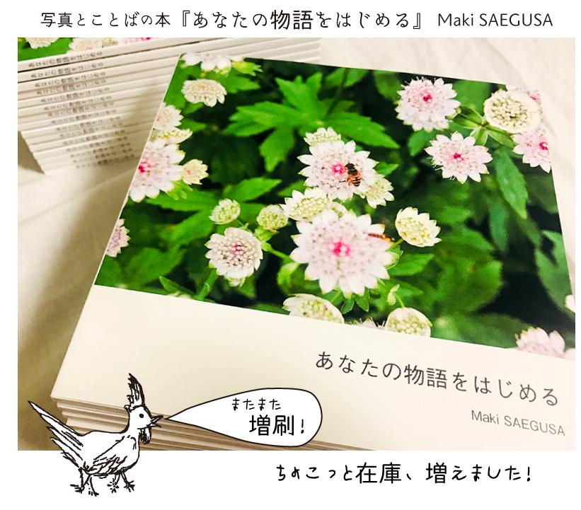 【ちょこっと入荷】写真とことばの本『あなたの物語をはじめる』Maki SAEGUSA_d0018646_14352944.jpg