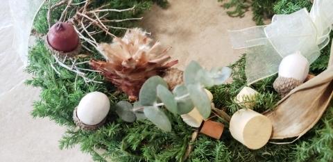 HANATSUDOIクリスマスリースレッスン_a0101801_20433397.jpg