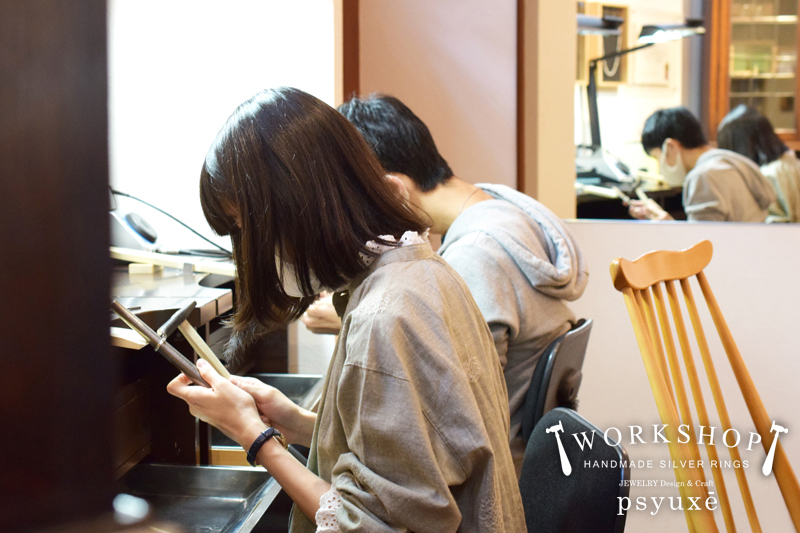 WORKSHOP シルバーリング作り体験教室*愛知県 K 様 & M 様_e0131432_16583465.jpg
