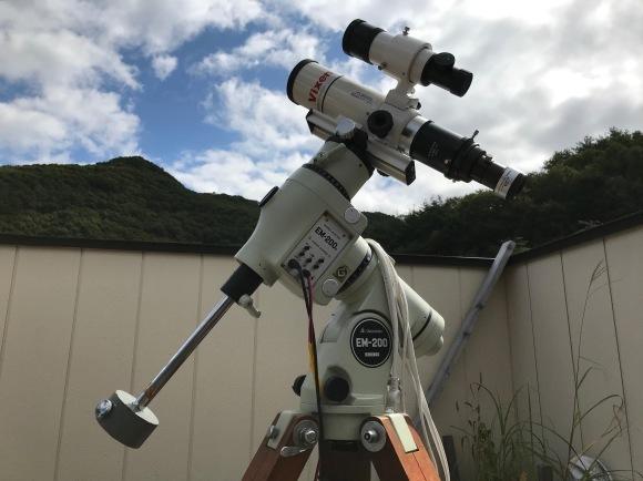 暑いくらいの天気に望遠鏡を干す?_b0100253_12502521.jpg