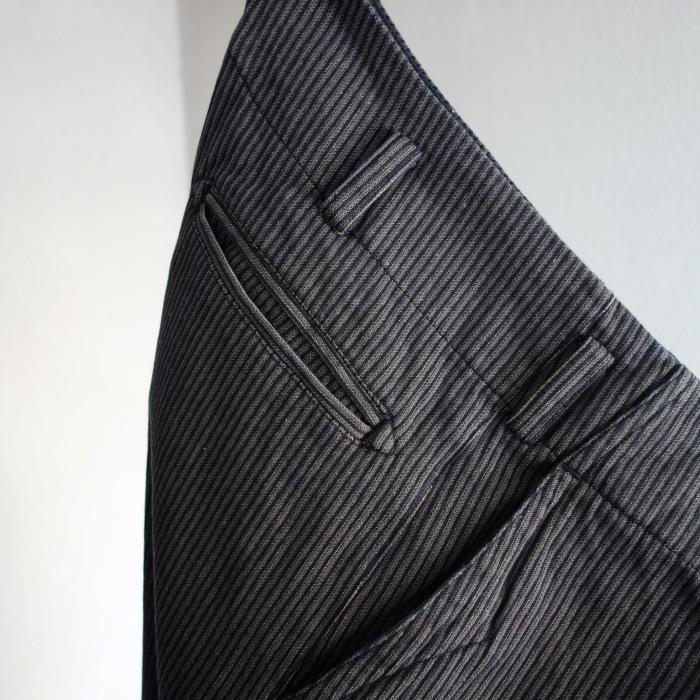 12月の製作 / classic wide stripe trousers / 別注品_e0130546_12500567.jpg