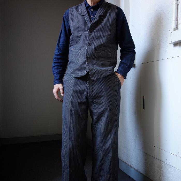 12月の製作 / classic wide stripe trousers / 別注品_e0130546_12523567.jpg