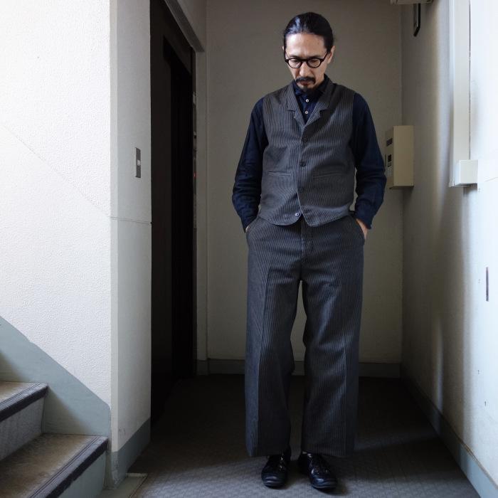 12月の製作 / classic wide stripe trousers / 別注品_e0130546_12534607.jpg