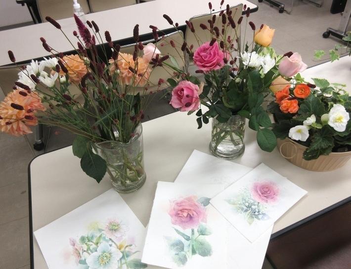水彩教室「花々を描く」_f0006171_19325854.jpg