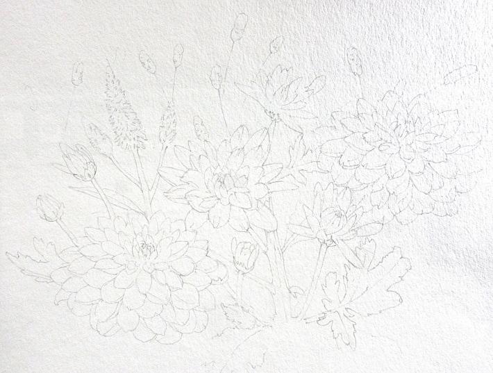 水彩教室「花々を描く」_f0006171_20495744.jpg
