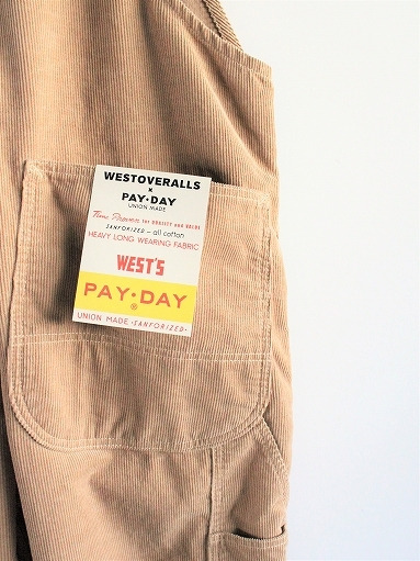 PAYDAY × WEST\'S CORDUROY OVERALL_b0139281_22234195.jpg