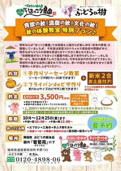 体験教室秋の特別プラン開催!_f0224320_15120883.jpg