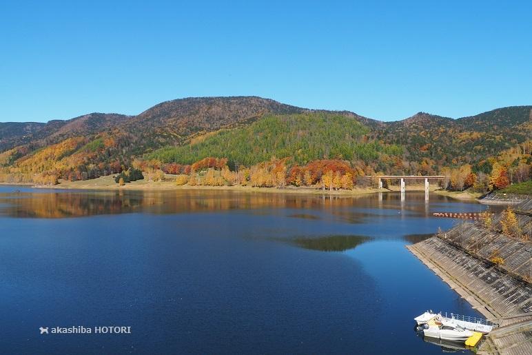 鹿ノ子ダムで紅葉狩り_f0150377_19242748.jpg