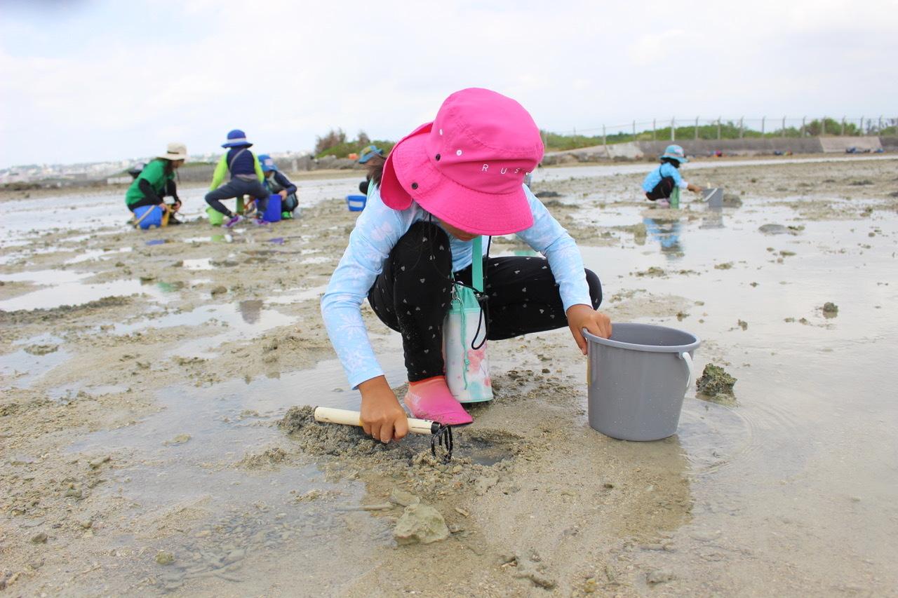 ネコクラブABC合同-06◆秋の干潟で収穫まつり(10/17)沖縄随一の干潟、泡瀬干潟で丸一日潮干狩りにチャレンジ。貝もカニもいっぱいで、お腹いっぱいになりました!_d0363878_00102828.jpeg