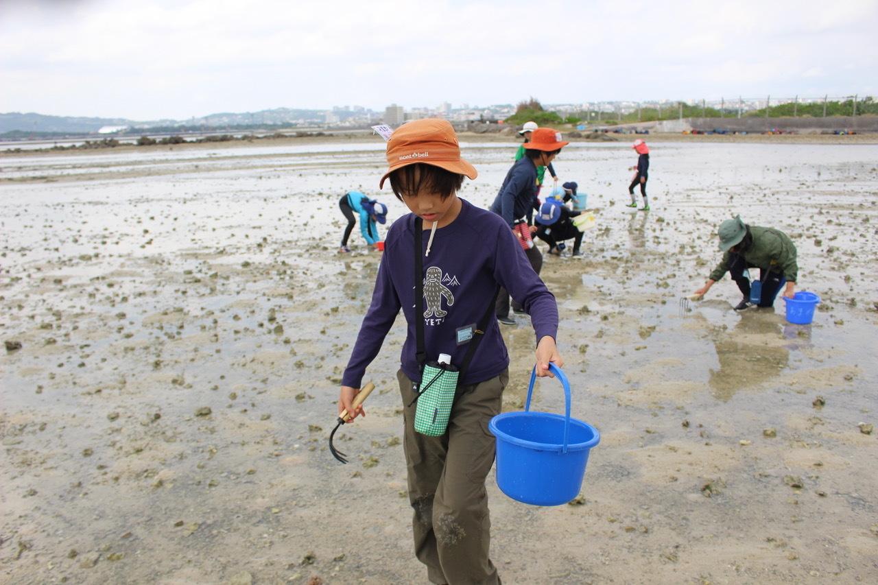 ネコクラブABC合同-06◆秋の干潟で収穫まつり(10/17)沖縄随一の干潟、泡瀬干潟で丸一日潮干狩りにチャレンジ。貝もカニもいっぱいで、お腹いっぱいになりました!_d0363878_00111102.jpeg