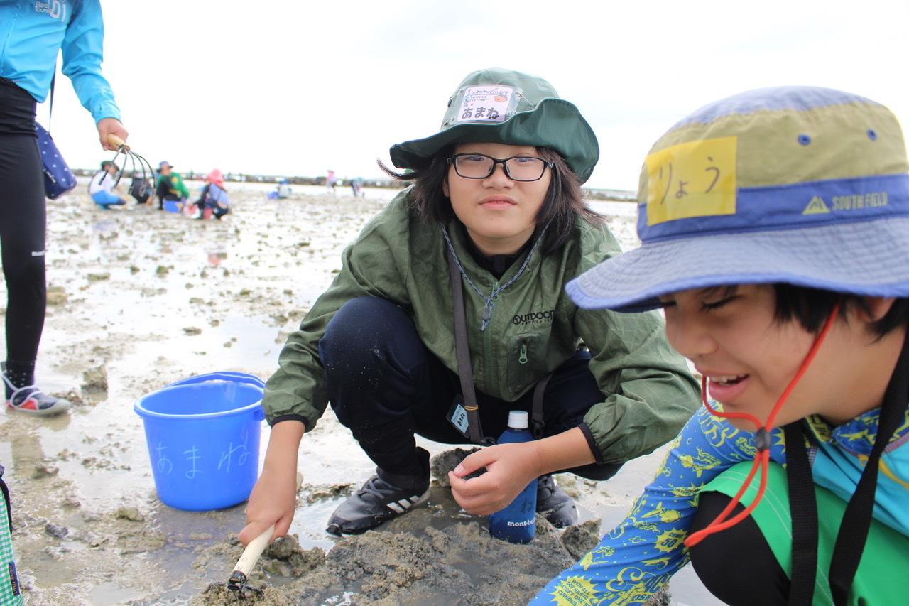 ネコクラブABC合同-06◆秋の干潟で収穫まつり(10/17)沖縄随一の干潟、泡瀬干潟で丸一日潮干狩りにチャレンジ。貝もカニもいっぱいで、お腹いっぱいになりました!_d0363878_00111916.jpeg