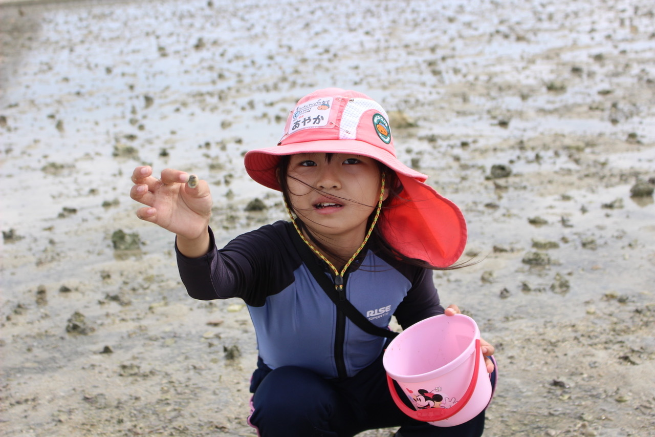 ネコクラブABC合同-06◆秋の干潟で収穫まつり(10/17)沖縄随一の干潟、泡瀬干潟で丸一日潮干狩りにチャレンジ。貝もカニもいっぱいで、お腹いっぱいになりました!_d0363878_00111991.jpeg