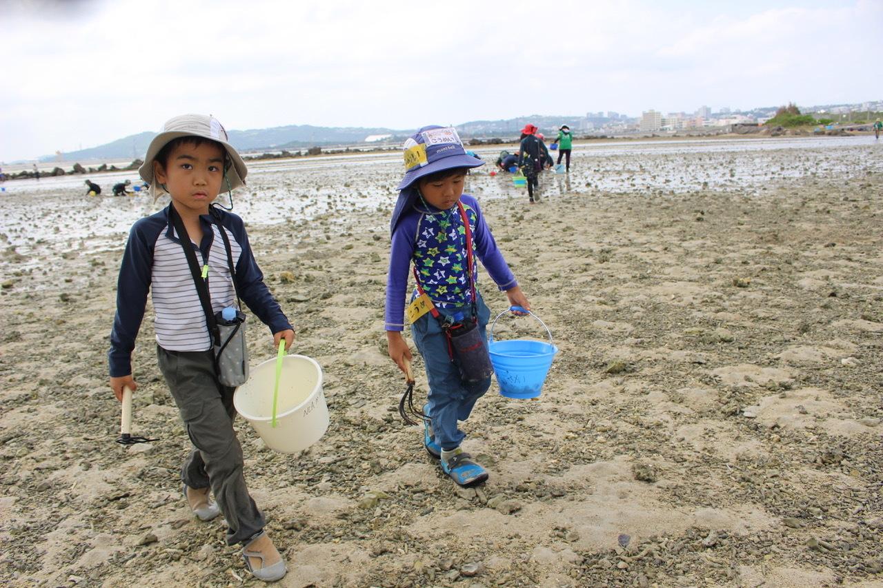 ネコクラブABC合同-06◆秋の干潟で収穫まつり(10/17)沖縄随一の干潟、泡瀬干潟で丸一日潮干狩りにチャレンジ。貝もカニもいっぱいで、お腹いっぱいになりました!_d0363878_00113455.jpeg