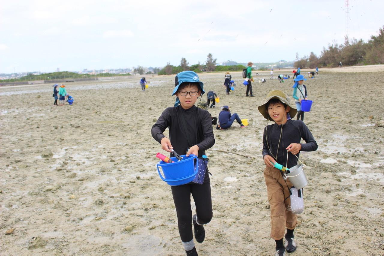 ネコクラブABC合同-06◆秋の干潟で収穫まつり(10/17)沖縄随一の干潟、泡瀬干潟で丸一日潮干狩りにチャレンジ。貝もカニもいっぱいで、お腹いっぱいになりました!_d0363878_00114743.jpeg