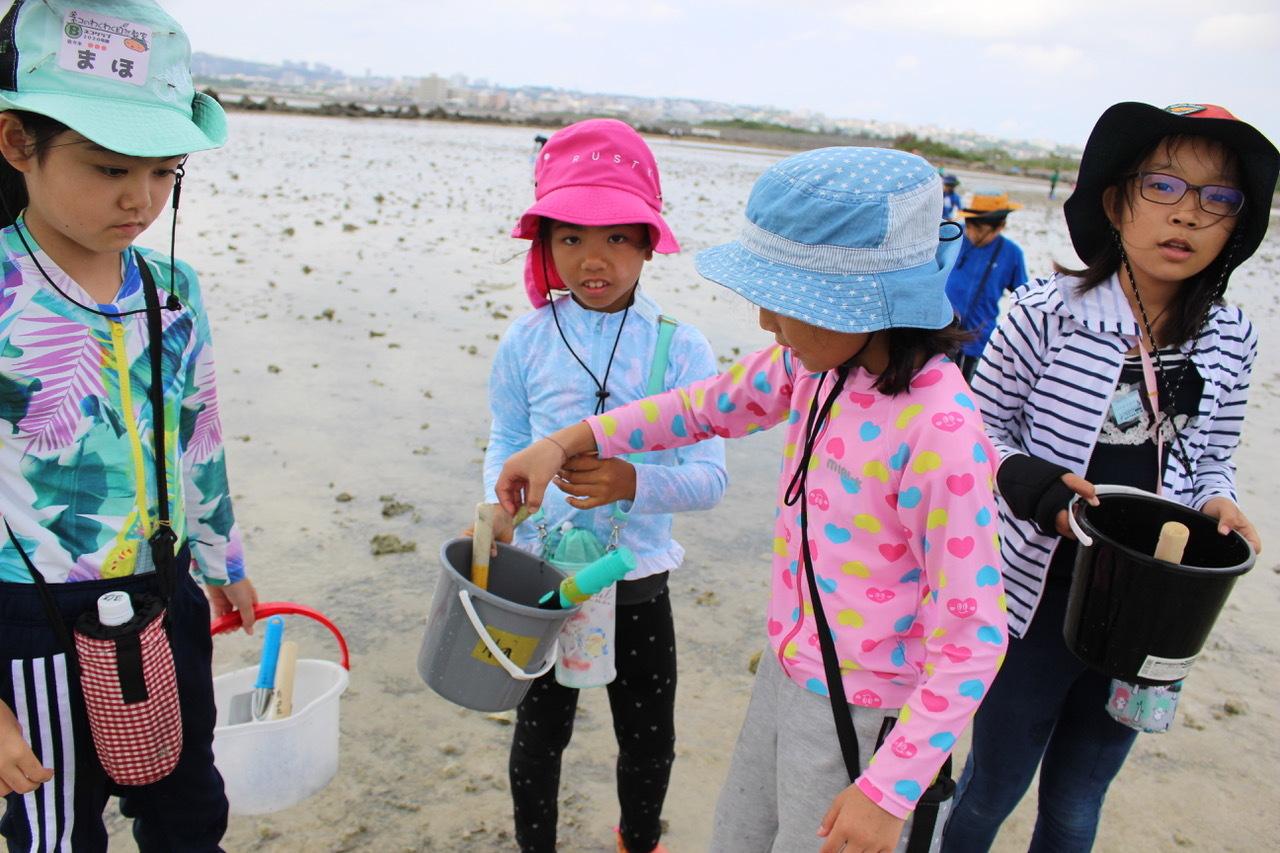 ネコクラブABC合同-06◆秋の干潟で収穫まつり(10/17)沖縄随一の干潟、泡瀬干潟で丸一日潮干狩りにチャレンジ。貝もカニもいっぱいで、お腹いっぱいになりました!_d0363878_00115840.jpeg