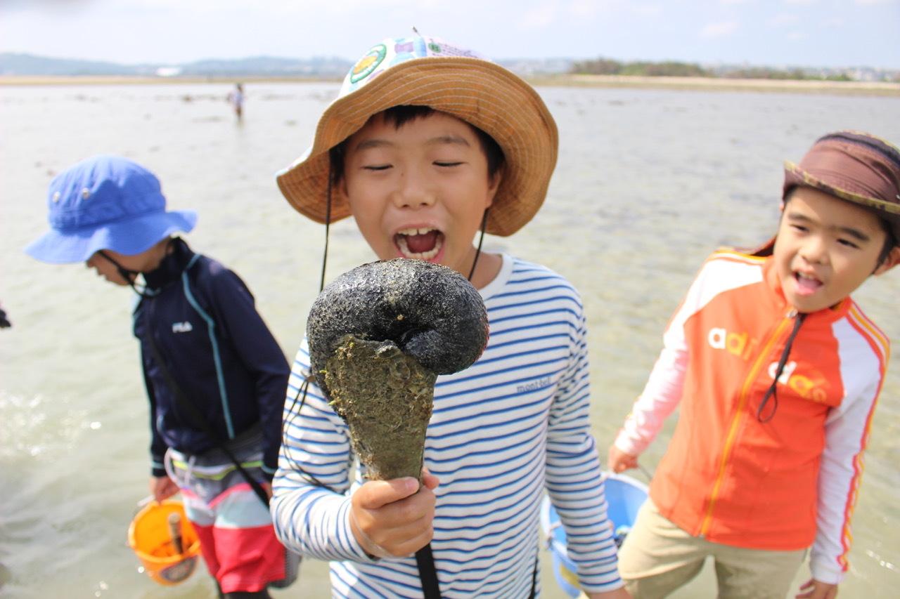 ネコクラブABC合同-06◆秋の干潟で収穫まつり(10/17)沖縄随一の干潟、泡瀬干潟で丸一日潮干狩りにチャレンジ。貝もカニもいっぱいで、お腹いっぱいになりました!_d0363878_00123213.jpeg