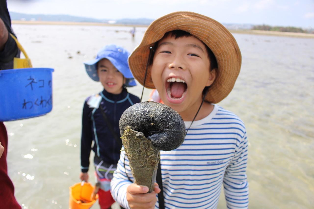 ネコクラブABC合同-06◆秋の干潟で収穫まつり(10/17)沖縄随一の干潟、泡瀬干潟で丸一日潮干狩りにチャレンジ。貝もカニもいっぱいで、お腹いっぱいになりました!_d0363878_00123254.jpeg