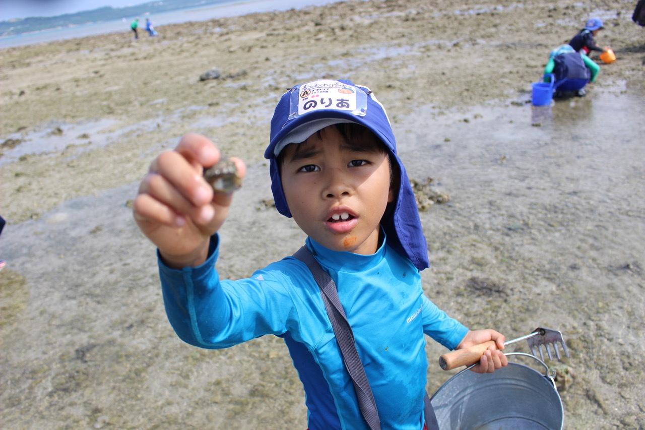 ネコクラブABC合同-06◆秋の干潟で収穫まつり(10/17)沖縄随一の干潟、泡瀬干潟で丸一日潮干狩りにチャレンジ。貝もカニもいっぱいで、お腹いっぱいになりました!_d0363878_00130567.jpeg