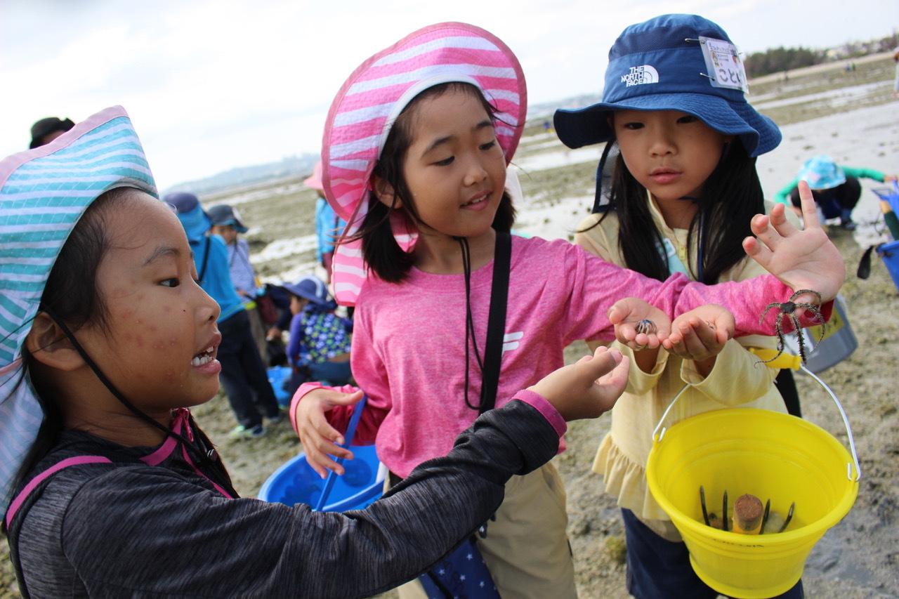 ネコクラブABC合同-06◆秋の干潟で収穫まつり(10/17)沖縄随一の干潟、泡瀬干潟で丸一日潮干狩りにチャレンジ。貝もカニもいっぱいで、お腹いっぱいになりました!_d0363878_00132145.jpeg