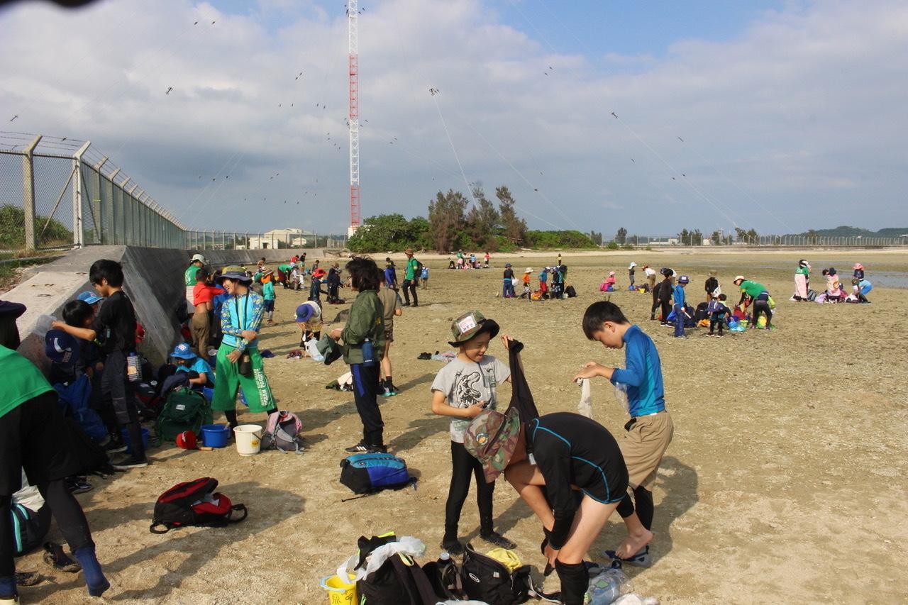 ネコクラブABC合同-06◆秋の干潟で収穫まつり(10/17)沖縄随一の干潟、泡瀬干潟で丸一日潮干狩りにチャレンジ。貝もカニもいっぱいで、お腹いっぱいになりました!_d0363878_00144551.jpeg