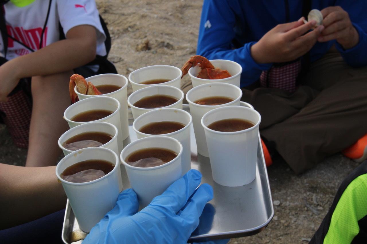 ネコクラブABC合同-06◆秋の干潟で収穫まつり(10/17)沖縄随一の干潟、泡瀬干潟で丸一日潮干狩りにチャレンジ。貝もカニもいっぱいで、お腹いっぱいになりました!_d0363878_00145811.jpeg