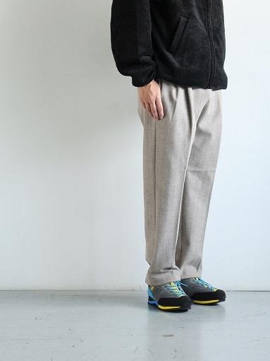 FLISTFIA Wide Tuck Trousers / Mocha Herringbone_b0139281_15371411.jpg