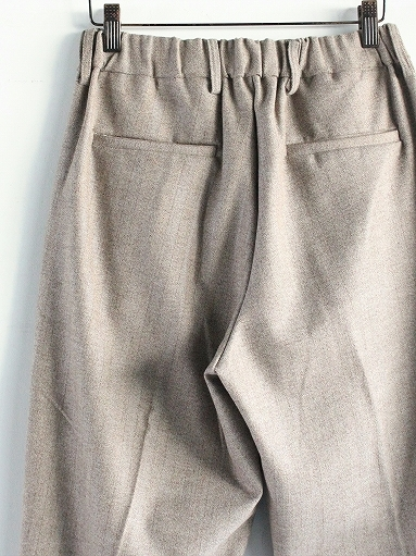 FLISTFIA Wide Tuck Trousers / Mocha Herringbone_b0139281_15371425.jpg