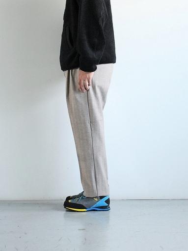 FLISTFIA Wide Tuck Trousers / Mocha Herringbone_b0139281_15371443.jpg