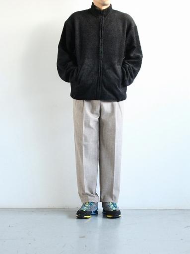 FLISTFIA Wide Tuck Trousers / Mocha Herringbone_b0139281_15371481.jpg