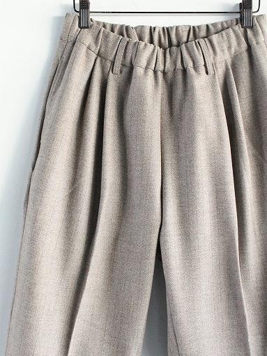 FLISTFIA Wide Tuck Trousers / Mocha Herringbone_b0139281_15371504.jpg