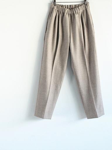 FLISTFIA Wide Tuck Trousers / Mocha Herringbone_b0139281_15371551.jpg