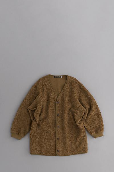 HAVERSACK Sheep Pile Cardigan Jacket (Brown)_d0120442_12122971.jpg