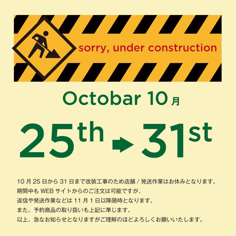 FLAKE RECORDSより大切なお知らせ。2020年10月25日(日曜)より10月31日(土曜)までの7日間店舗改装のために休業とさせていただきます_a0087389_18110354.jpg