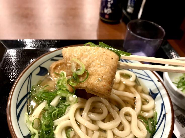 きつねうどん並@丸亀製麺_c0212604_5443389.jpg