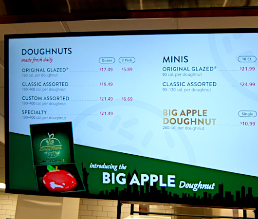 """1つ1200円ほどするニューヨークならではの特別ドーナツ、\""""Big Apple Doughnut\"""" by Krispy Kreme_b0007805_06520387.jpg"""