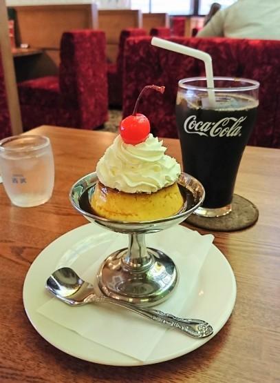 昭和な喫茶店空間でいただく、昔ながらのプリン・珈琲西武 西新宿店@新宿西口_f0337357_01574980.jpg