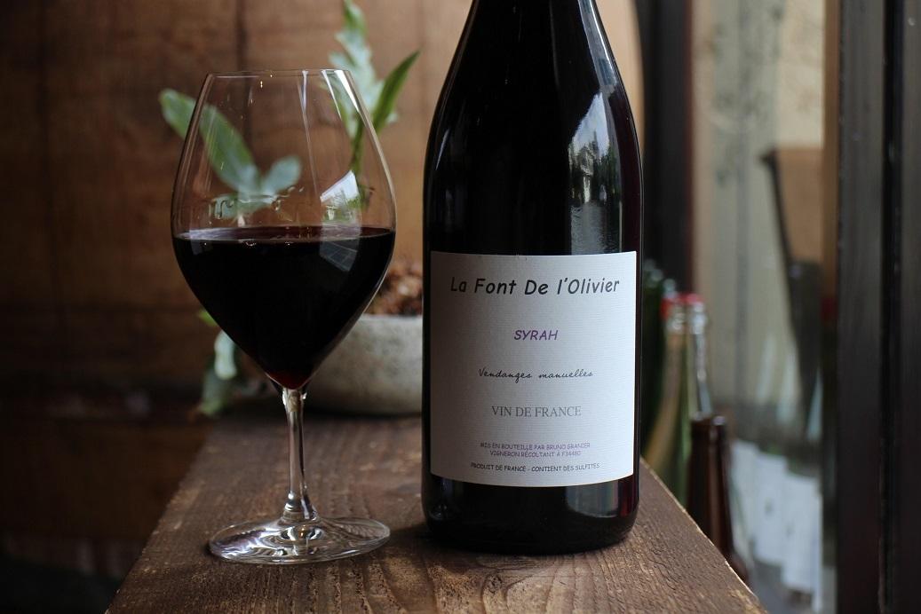 <立ち止まることを肯定してほしいときのワイン。>Domaine la font de l\'Olivier/Syrah2018_b0016474_15302779.jpg