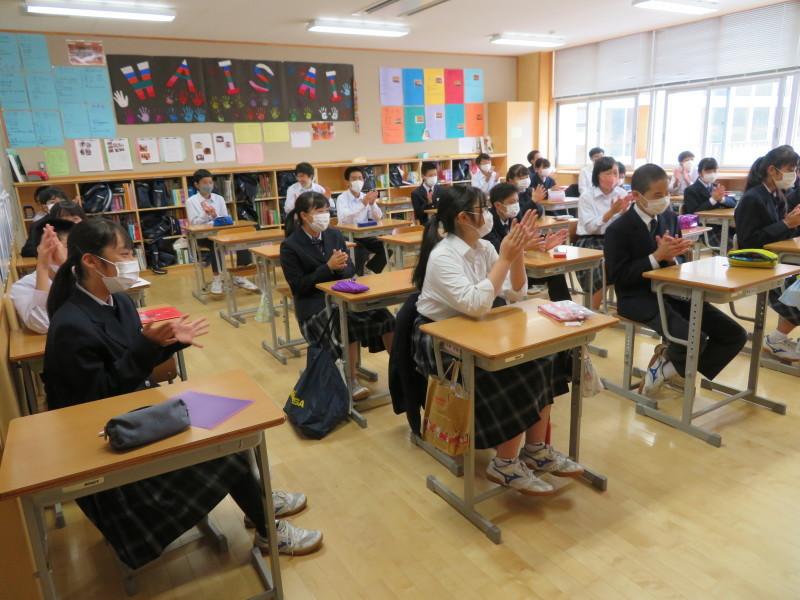 体育祭で初めて全校生徒がそろいました_e0359282_16122505.jpg