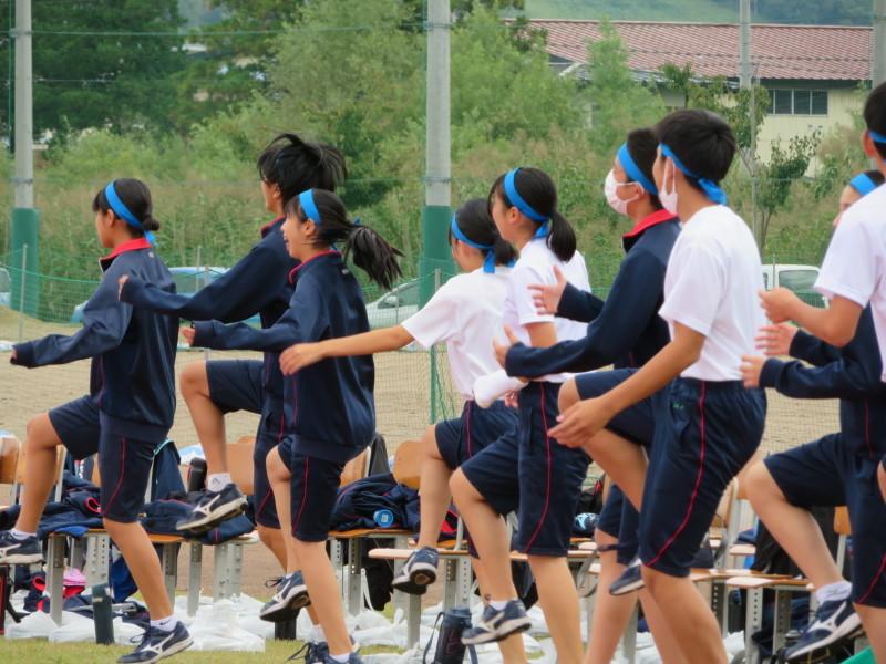 体育祭で初めて全校生徒がそろいました_e0359282_16124858.jpg