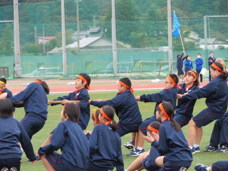 体育祭で初めて全校生徒がそろいました_e0359282_16550354.jpg