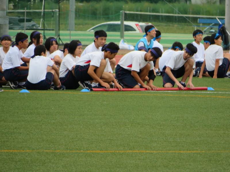 体育祭で初めて全校生徒がそろいました_e0359282_16550914.jpg